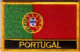 Portugal Embroidered Flag Patch, style 09.